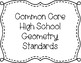 Common Core Standards Posters-Geometry