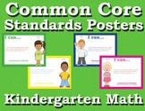 Common Core Standards Posters Kindergarten Math - Primary Colors