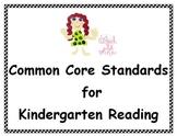Common Core Standards Posters - Kindergarten - Reading