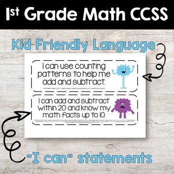 Common Core Standards Posters - MONSTER THEMED - First Grade Aligned