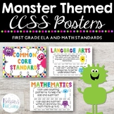 Common Core Standards Posters - MONSTER THEMED - First Gra