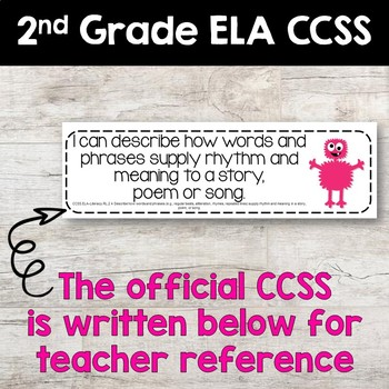 Common Core Standards Posters - MONSTER THEMED - Second Grade Aligned