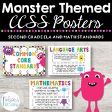 Common Core Standards Posters - MONSTER THEMED - Second Gr