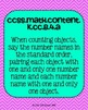 Kindergarten Math Common Core Standards Posters Counting a