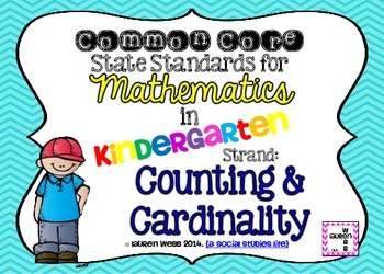 Common Core Standards Posters! Math in Kindergarten {5x7}
