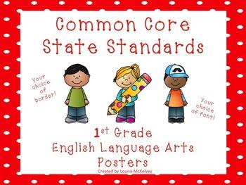 Common Core Standards Posters NO PREP