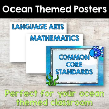 Common Core Standards Posters - OCEAN THEMED - First Grade Aligned