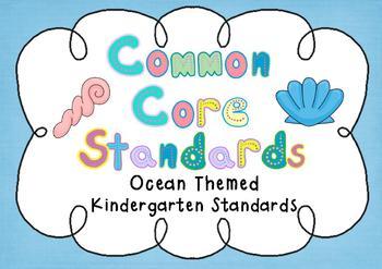 Common Core Standards Posters - OCEAN THEMED - Kindergarten Aligned