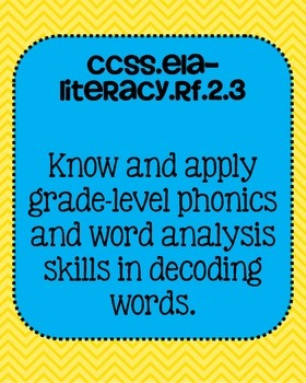 2nd grade ELA Foundational Skills in Reading Common Core Standards Posters