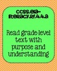 4th grade ELA Foundational Skills in Reading Common Core Standards Posters