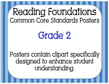 Common Core Standards Posters: Reading Foundations Grade 2