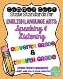 11th and 12th grade ELA Speaking & Listening Common Core Standards Posters