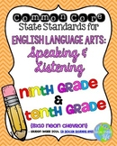9th and 10th grade ELA Speaking & Listening Common Core Standards Posters