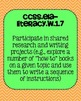 1st grade ELA Writing Common Core Standards Posters