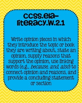 2nd grade ELA Writing Common Core Standards Posters