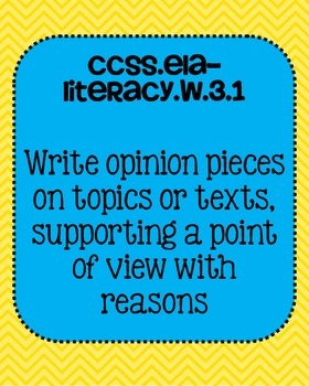 3rd grade ELA Writing Common Core Standards Posters