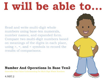 Common Core Standards Posters for 4th grade Math