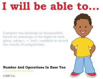 Common Core Standards Posters for 5th grade Math