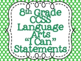 Common Core Standards Posters for Eighth Grade Language Arts