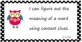 Common Core Standards Posters for First 1st Grade - Cute Owls
