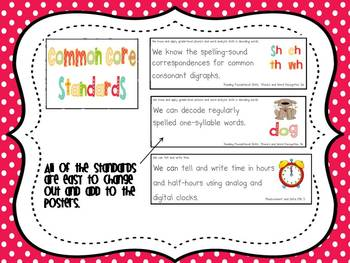 "Updated 4th Grade ""I Can"" CCSS Posters in Green Chevron - The ..."