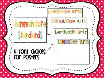 "3rd Grade Common Core Standards Posters- ""Kid Friendly"" 