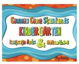Common Core Standards Posters for Kindergarten~ Polka Dot
