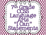 Common Core Standards Posters for Seventh Grade Language Arts