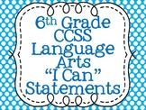 Common Core Standards Posters for Sixth Grade Language Arts