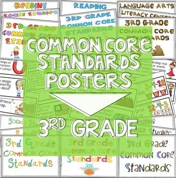 First Grade Common Core Standards Posters I Can Statements - Math ...
