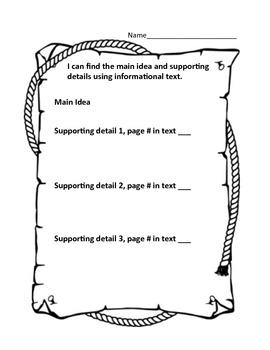 Common Core Standards Reading Graphic Organizers, Second Grade