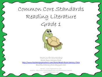 Common Core Standards - Reading Literature Grade 1