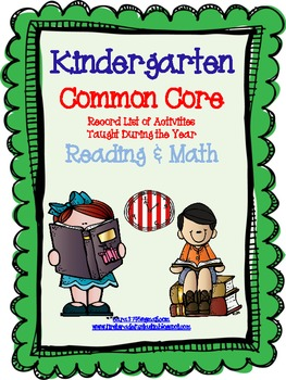 Common Core Standards * Record of Activities Taught * Kindergarten