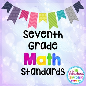 Common Core Standards Posters Seventh Grade Math
