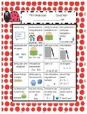 Common Core Standards Sheet for 1st Grade (English and Spa