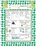 Common Core Standards Sheet for KINDERGARTEN (English and