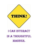 """Common Core Standards """"THINK"""" poster for your classroom."""