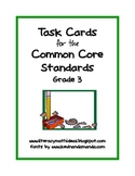 Common Core Standards Task Cards:  Grade 3