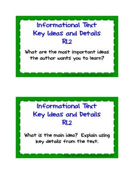 Common Core Standards Task Cards:  Kindergarten