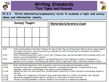 Common Core Standards Third Grade Teacher Planner 2015-2016