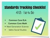 Common Core Standards Tracking Checklist
