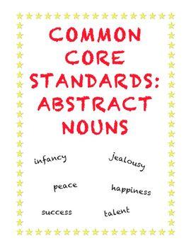 Common Core L.3.1c: Using Abstract Nouns