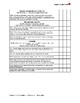 Common Core Standards - Yearly Checklist - Kindergarten Math
