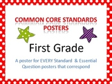 Common Core Standards and Essential Questions Posters - First Grade (HORIZONTAL)