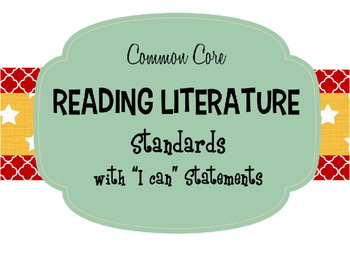 """7th Grade Common Core ELA Standards with """"I Can"""" Statements PDF"""