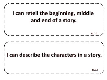 Common Core Standards and Learning Targets-2nd Grade