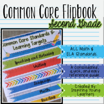 Common Core Standards and Learning Targets Flipbook- Second Grade