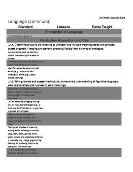 Common Core Standards for 1st Grade