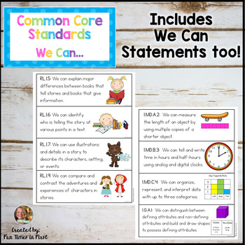 Common Core Standards for 1st Grade {Bright Polka Dot}
