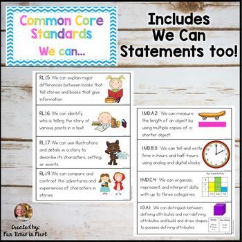 Common Core Standards for 1st Grade {Chevron}